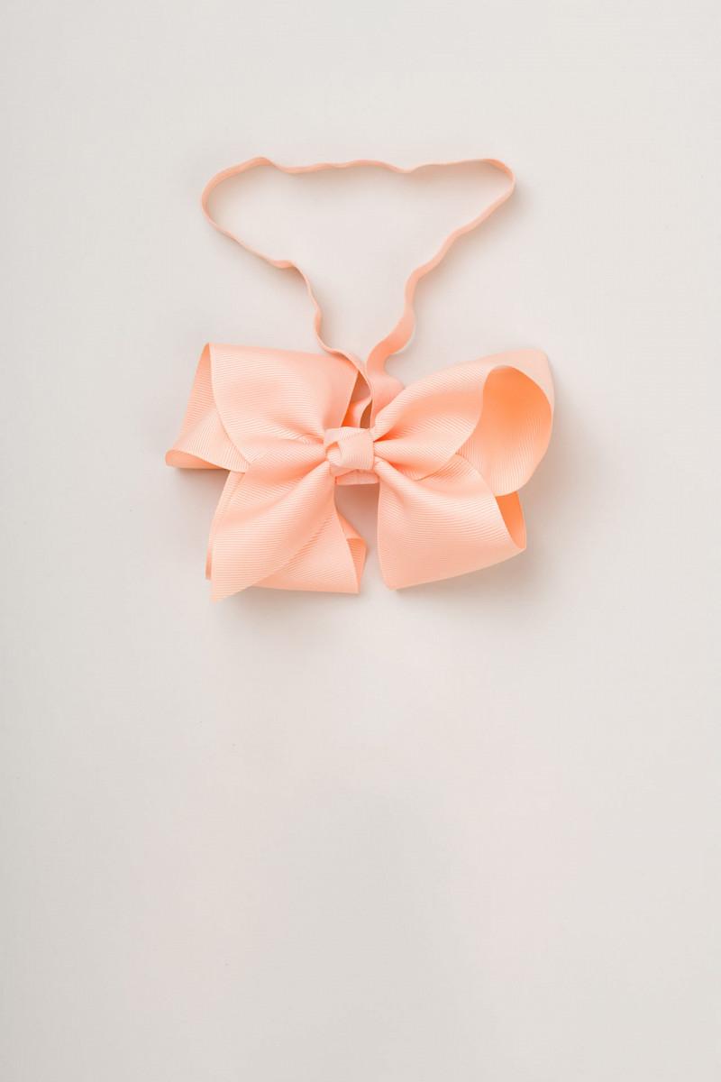 Head bow (petal peach)